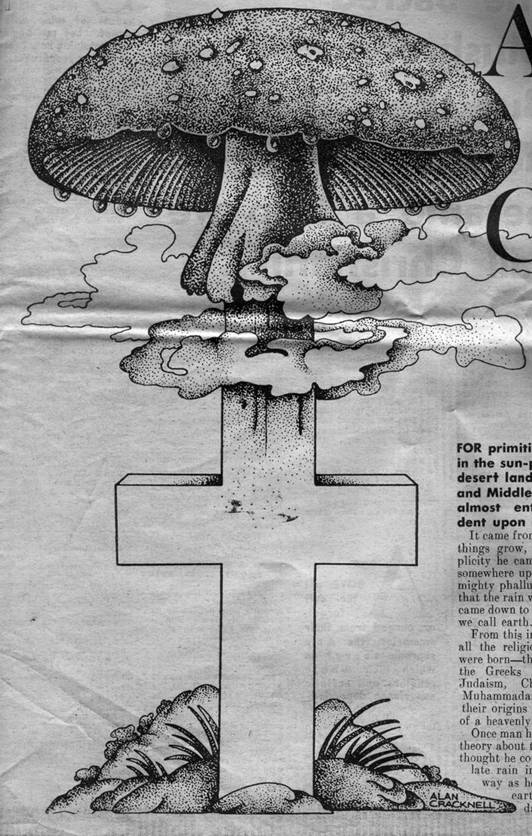 Sacred Mushroom And The Cross Sunday Mirror Series 1970